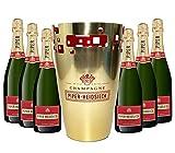 Piper-Heidsieck Champagner Kühler + 6x Piper-Heidsieck Cuvee Brut Champagner 75cl (12% Vol) -[Enthält Sulfite]
