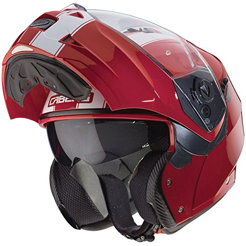Caberg Duke Legend Flip Front Motorcycle Helmet L Red White