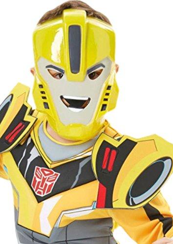 Imagen de mágica clown–niños–carnaval disfraz transformers bumblebee completo con máscara, 98–104, 3–4años, color amarillo alternativa
