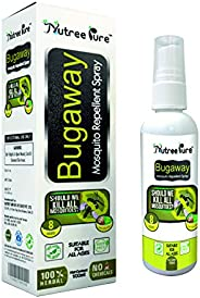 Nutree Pure Bugaway Herbal Mosquito Repellent Oil Spray Deet-free for Kids and Adults (100 ml)