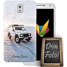 mobilefox–propio coche teléfono móvil imagen personalizada regalo Slim TPU de silicona diseño de Photo Present, Mit Text, Samsung Galaxy Note 3