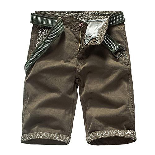 Aiserkly Herren Cargo Shorts Chino Hosen Gürtel Hose Arbeitshose Pocket Flachgewebe Hose Jogginghose Kurze Sommer - Rei Skihose