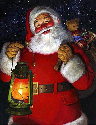 t Kits Malen Nach Zahlen Neu DIY Diamant Malerei Kit für Erwachsene Kinder Kreuzstich Stickerei Kunst Handwerk Wand-Dekor Weihnachten Geschenke (Santa Claus 1) ()