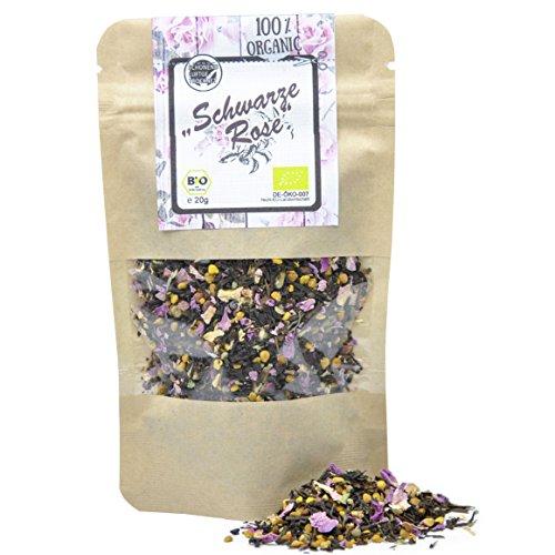 direct&friendly Bio Teemischung Schwarze Rose mit Schwarztee und Blütenpollen