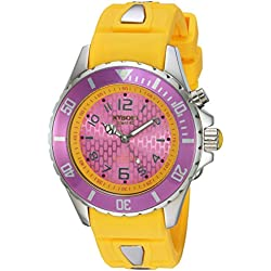 KYBOE! 'Power' Quartz Stainless Steel and Silicone Casual Watch, Color:Yellow (Model: KY.40-024.15)