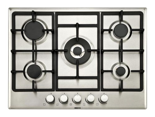 Beko HIMW75225SX Large Gas Hob with Wok Burner 2 Year Parts & Labour Guarantee
