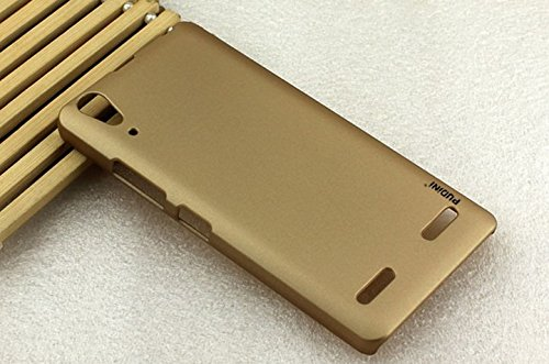 PUDINI rubber paint series mobile phone back case for lenovo A6000 - Gold