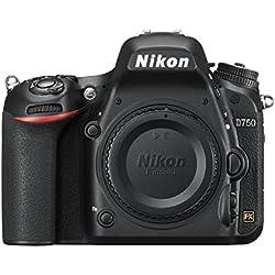 Nikon D750 reflex numérique du corps, 24,3 mégapixels, 8 Go SD 400x Lexar, Black [carte Nikon: 4 ans de garantie]