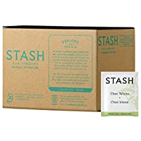 Stash Tea White Chai Tea, 100 Count Box of Tea Bags in Foil