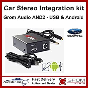Grom Audio et2) Android interface USB adaptateur pour Subaru Legacy/Impreza Forester Outback Tribeca