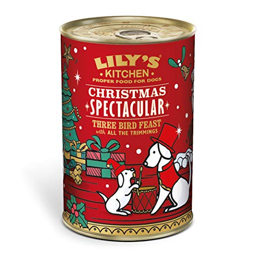 Lily's Kitchen Christmas Spectacular Dog Wet Food Three Bird Feast with all the trimmings (6 x 400 g)