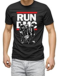 CorruptClothing Men's Run DMC Music 80s 90s Hip Hop Print Black T-Shirt Tee Tops Sizes S, M, L, XL, XXL,