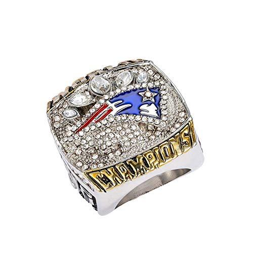 per Bowl Champion Ring Fußball Patriot Superbowl Ringe Replica Creative Ring für Frauen und MännerCarry Stone ()