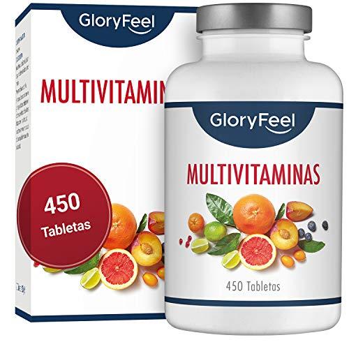 GloryFeel Multivitaminas 450 Pastillas Veganas - Vitaminas y Minerales - Complejo...