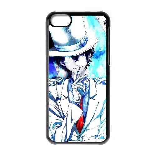 Detective Conan coque iPhone 5C Housse téléphone Noir de couverture de cas coque EBDXJKNBO10523