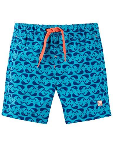 Schiesser Jungen Wal Willy Swimshorts Badeshorts, Blau (Türkis 807), 104 -