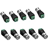 SIENOC 10 Packs BNC Male Plug To Terminal Block Adapter For CCTV Video Cameras Connector