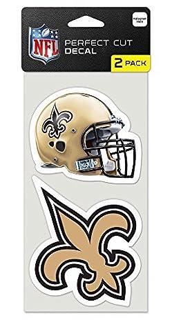 WinCraft New Orleans Saints Set of 2 Die Cut Decals (New Orleans Saints Magnet)