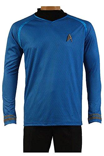 Star Trek Kostüm Cosplay Shirt Blau Herren L