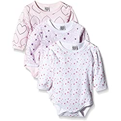 Care 4132 Body Bébé Fille : Lot de 3,Rose (Light red 500),74 (Taille fabricant: 9 Mois)
