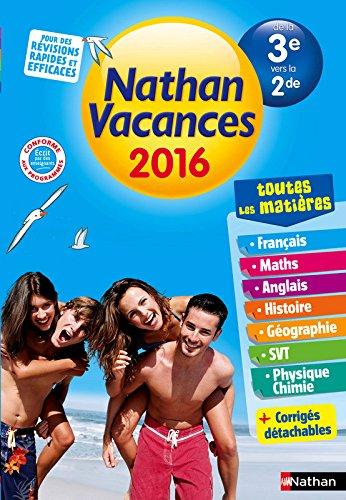 Nathan Vacances Collège - De la 3e vers la 2de