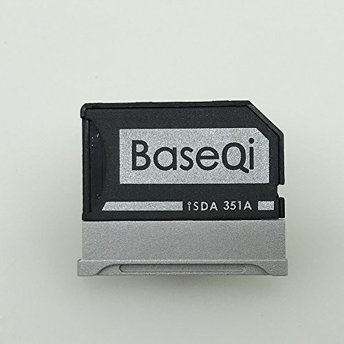 "BASEQI Aluminum MicroSD Adapter for Microsoft Surface Book & Surface Book 2 (Surface Book 2 15"" (model-351A))"