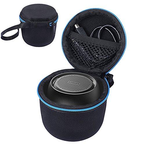Tiaobug Harter Eva Schutzhülle Schutztasche für Anker SoundCore Mini Super Mobiler Bluetooth Lautsprecher Speaker, Stoßfest Netztasche für Ladegeräte und Kabel -