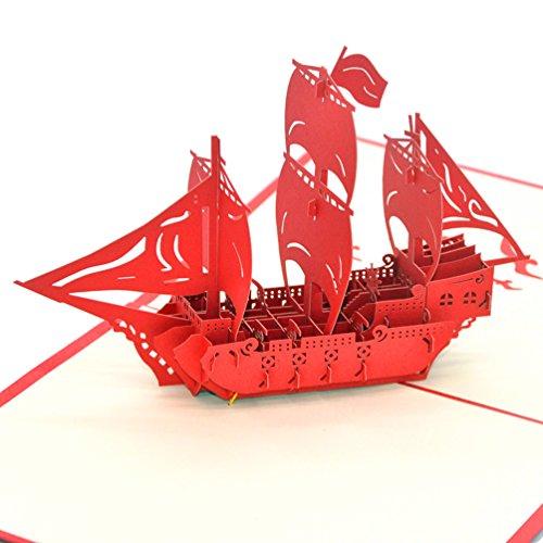 medigy 3d pop up biglietti di auguri Biglietti per più occastions (barca a vela) (Congratulazioni Nuovo Bambino)