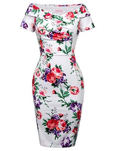 blumenkleid rockabilly kleid hochzeitskleid pencil kleider für Damen BP117-6