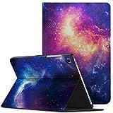 INFILAND Custodia Protettiva per Samsung Galaxy Tab S5e 10,5 Pollice 2019 Versione (T720/T725)-Automatica Svegliati/Sonno Funzione-Cover Stile Supporto Anteriore Leggero-Galassia