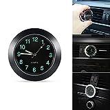 ONEVER Reloj de coche, rejilla de ventilación de coche, reloj de cuarzo, mini reloj de salpicadero de vehículo