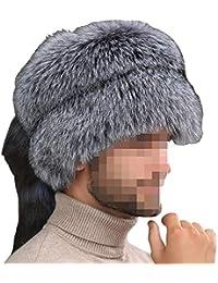 Zxcvb Cappello di Pelliccia di Volpe Cappello di Lana da Uomo Cappello  Invernale Grande Cappello Tondo 00ae2f21ae49