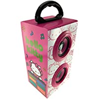 Hello Kitty DJ Portable Rechargeable Party Speaker with Carry Handle for Smartphone, Tablet, Laptop, and MP3 Device - Pink