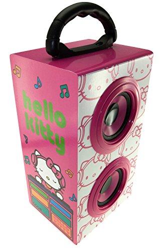Hello Kitty DJ tragbarer wiederaufladbarer Party-Lautsprecher mit Tragegriff für Smartphone, Tablet, Laptop, und MP3Gerät-Pink Mp3-geräte
