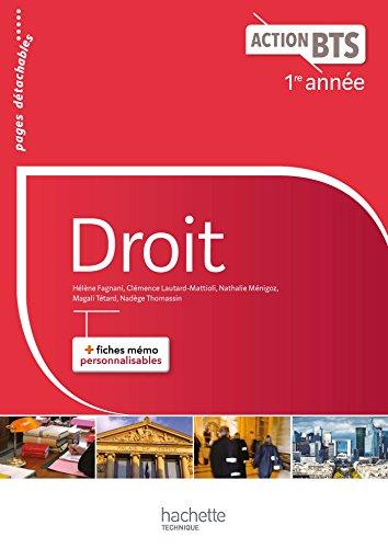 Action BTS Droit BTS 1re année - Livre élève - Ed. 2017 par Hélène Fagnani