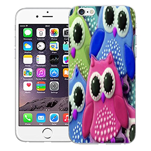 """Mobile Case Mate iPhone 6 4.7"""" inch clip on Dur Coque couverture case cover Pare-chocs - blue dual love Motif young owl"""