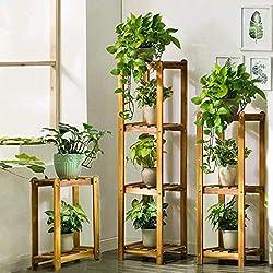 UNHO Juego de 3 Estanterías de Bambú Estante de Pie con 9 Niveles Multifuncional Estantería para Baño Cocina Sala de Estar Dormitorio Libros Macetas de Flores