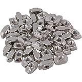 BQLZR plata de acero al carbono (cabeza de martillo para ranura de extrusión de perfil de aluminio de la serie estándar europeo 30Pack de 50