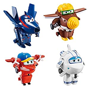 ColorBaby Lote 4 Super Wings transformables: Astra, Flip, Todd y Chace (85219)