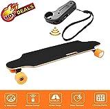 Oppikle Elektrisches Skateboard Longboard E Skateboard Elektrisches City Scooter Elektrolongboard mit Fernbedienung und Motor - Reichweite Ca 10 km - Geschwindigkeit 20km/h