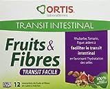 ORTIS Fruits & Fibres Transit Facile Complément Alimentaire Pâte à Mâcher 12 Cubes