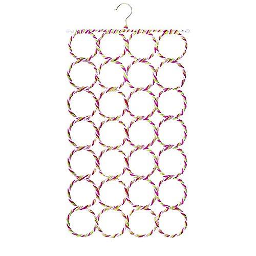 Fablcrew 28 Ring Seil Slot Halter Haken Schal Wraps Schals Hängeverpackung Organizer zufällige Farbe - Papier Wrap-halter