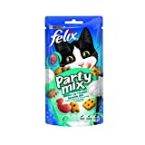 FELIX Party Mix Saveur de L'Océan : Saumon, Colin, Truite - 60 g - Friandises pour chat - Lot de...