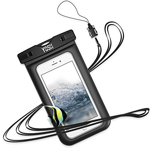 Price comparison product image YOSH Waterproof Phone Case [Lifetime Warranty] IPX8 Watertight Sealed Underwater Waterproof Phone Pouch Dry Bag with Lanyard for iPhone X 6s 6 Plus Samsung S9 S8 S7 J3 Huawei Doogee Nokia LG up to 6""