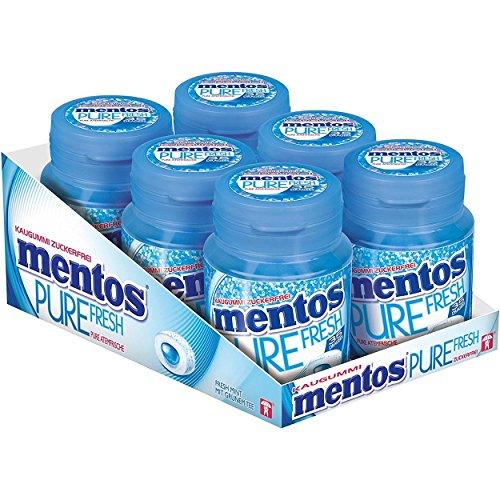 Fresh Mint Kaugummi (Mentos Gum Pure Fresh Mint Zuckerfrei 6x70g)