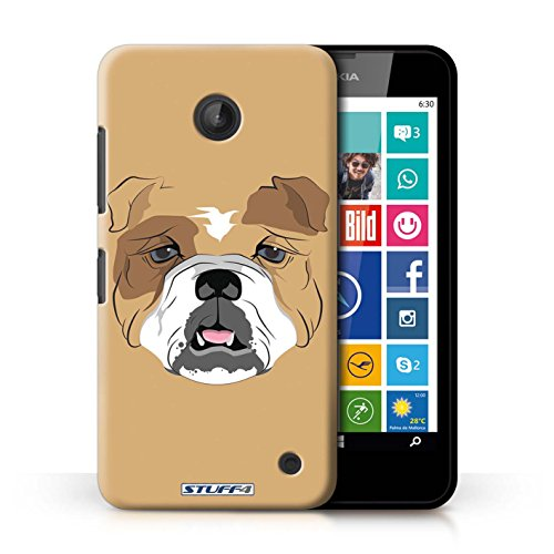 Kobalt® Imprimé Etui / Coque pour Nokia Lumia 630 / Cheval conception / Série Museaux Chien/Bulldog