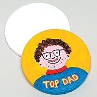 Baker Ross Toiles de Peinture Rondes de 20cm de diamètre pour Les projets d'arts Plastiques des Enfants (Lot de 2)