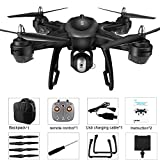 bescita LH-X38G Doppel GPS FPV Drone Quadcopter mit 1080 P HD Kamera mit 7.4V 2500mAh Lipo Batterie Faltbare RC Quadcopter Drone mit Rucksack (Schwarz)