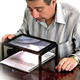 HCFKJ GroßE A4 HäNde Frei Lupe Blatt 4 Led Magnifier Neck Cord