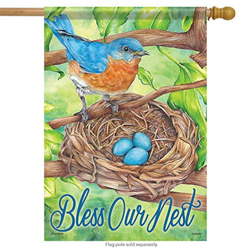 ASKYE Carson House Flag - Bluebird Blessings Decorative Garden Flag Banner for Party Outdoor Home Decor(Size: 12.5inch W X 18 inch H) -